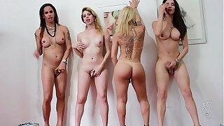 4 Divas Trans Brasileiras - 4 Brazilian Shemale Goddesses