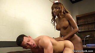 Big cock black tranny nurse anal dude