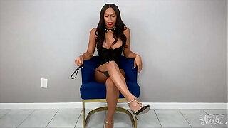 busty ts miss (Jasmine Lotus) strips and masturbating simply - TransAngels