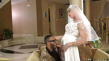 Gorgeous trans bride cheating with her whilom before lover BBC