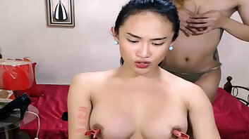 Two shemale sucking and licking ass